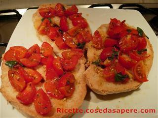 freselle bruschette al pomodoro