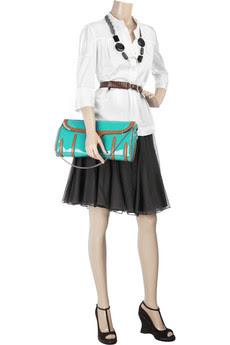 Celine Patent leather clutch