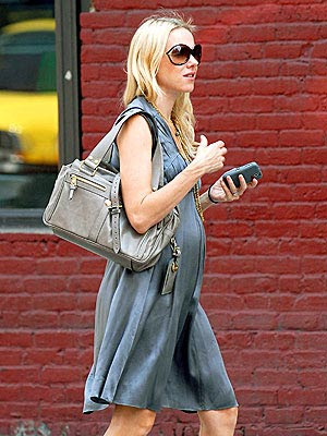 Naomi Watts spotted with the Mulberry Mabel bag