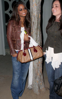 Celebrity Handbag Spotting: Christina Milian with the L.A.M.B. Mandeville Satchel