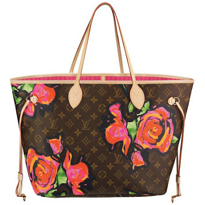 Louis Vuitton Marc Jacobs Stephen Sprouse Monogram Rose Neverfull