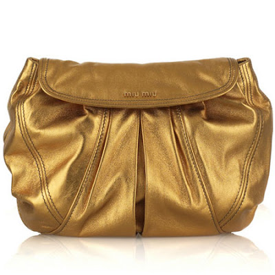 Miu Miu Oversized metallic clutch