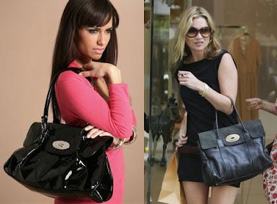 Haute vs. Hot: Mulberry Bayswater a la Kate-Moss vs. Asos Patent Twist Lock Bag