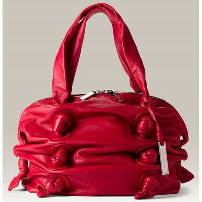 Michael Kors 'Zuma - Small' Red Leather Satchel