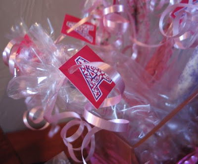 birthday favors bag tags Jamie Easton sexy teeny tiny bikini