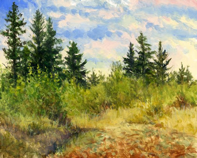 Landscape painting by Shari Erickson