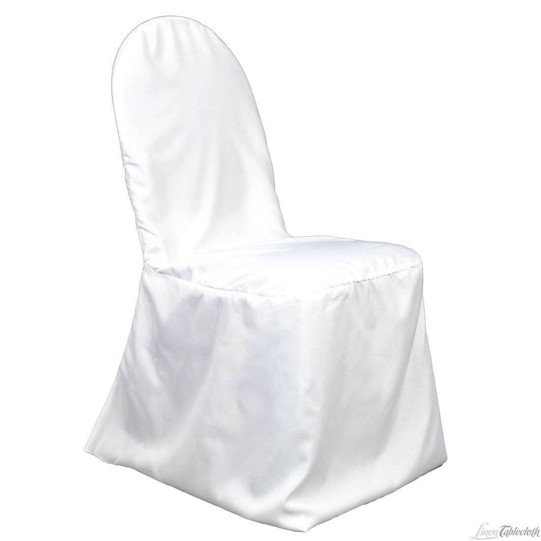 banquet poly white chair cover