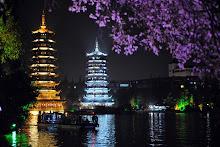 Guilin gece manzarası