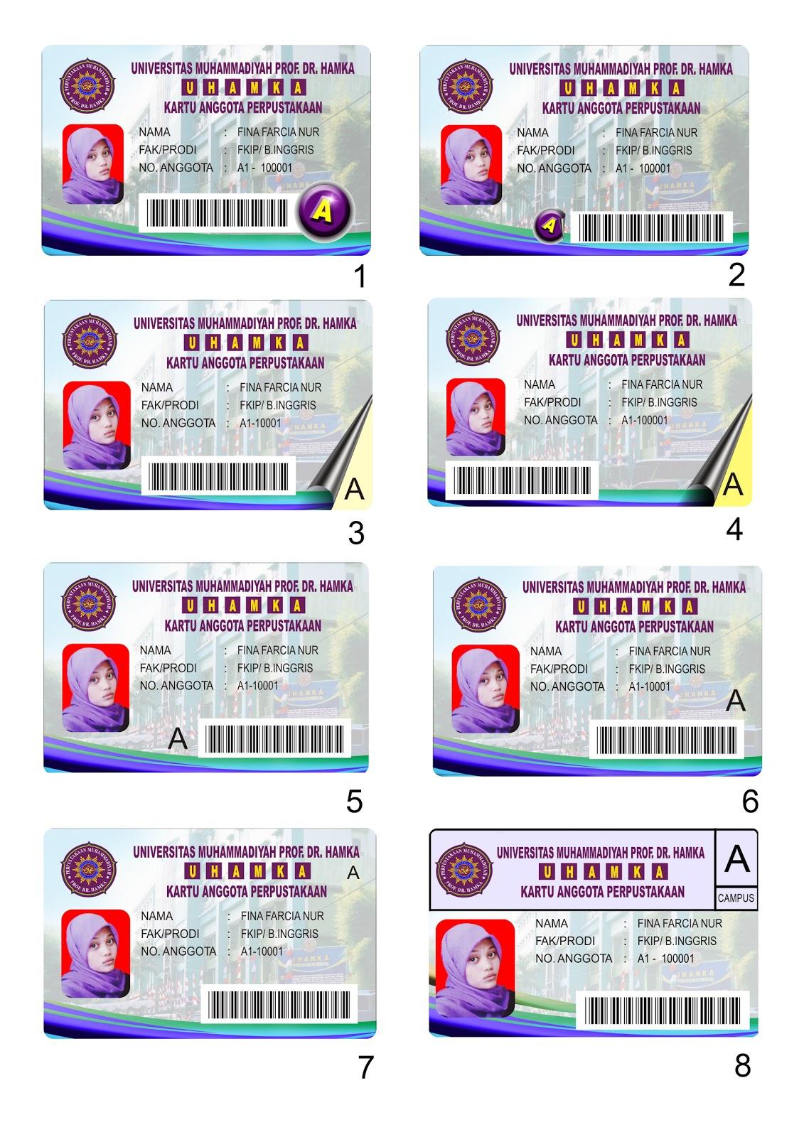 Kami juga menerima pesanan ID card.