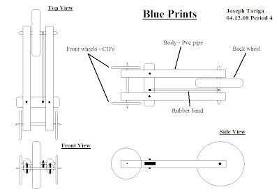 Rubber band car... T 34 Blueprints