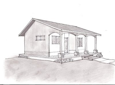 Eco architecture eco living sketch and floor plan for Studio guest house plans