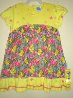 Dress Pyshel Motif Many Flower Kuning