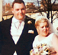 David and Michelle on their wedding day