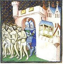Cathars being expelled