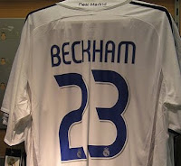 David Beckham 23 shirt
