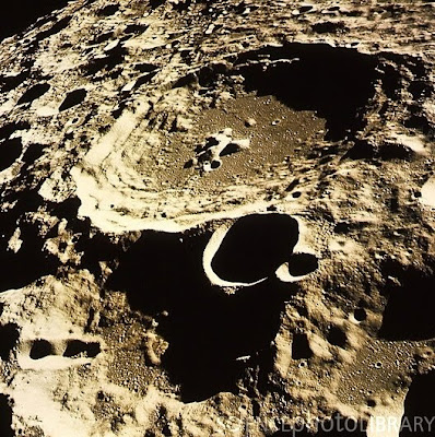 Moon craters on far side of moon taken by Apollo 11