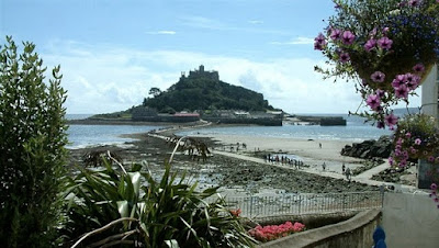 St Michaels Mount Cornwall - recent scene of a tsunami
