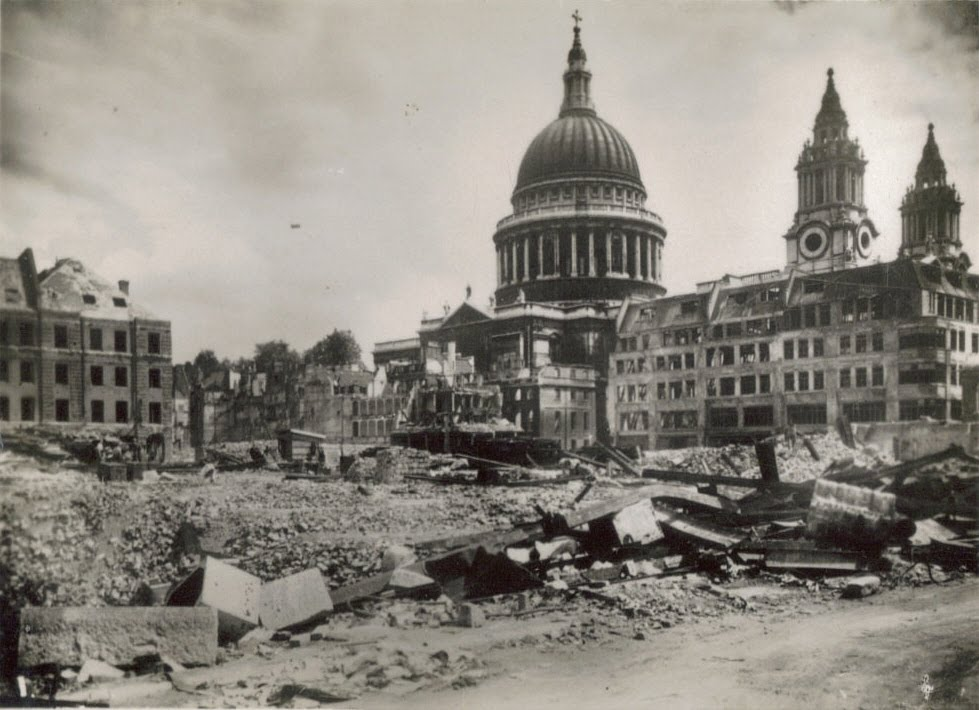 world war 2 bombs in london. during World War II.