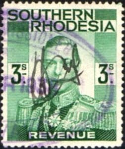 Rhodesia postage 3s stamp