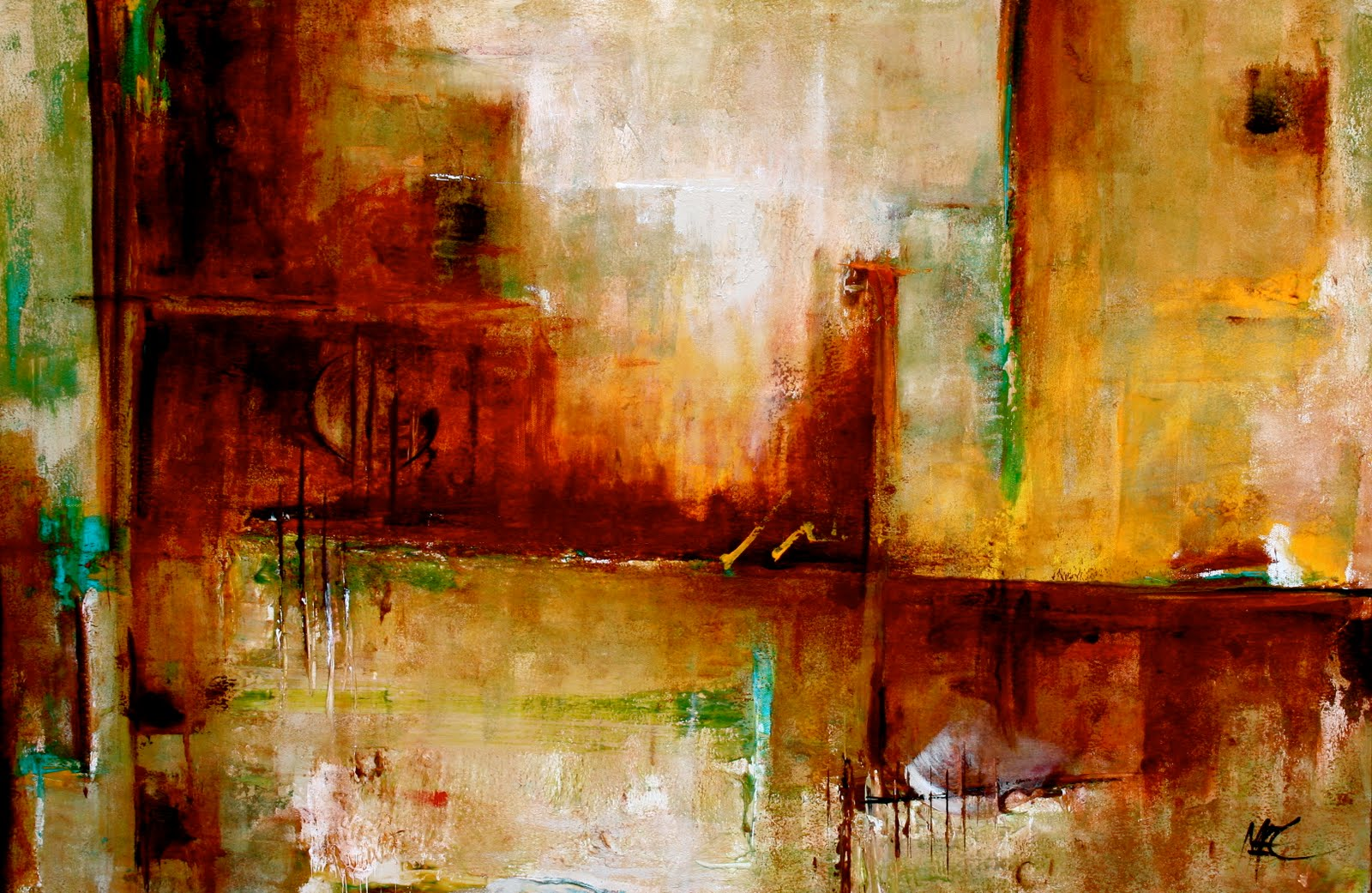 Daily painters abstract gallery orchestrate modern for Oil paintings for the home