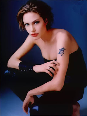 tattoos: Sexy celebrity angelina jolie tattoo photo Famous Dolphin Painting