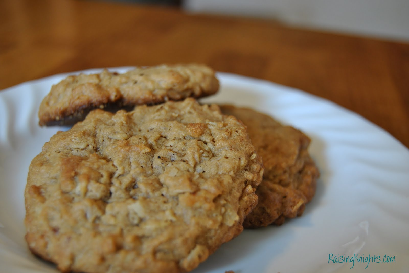 Raising Knights: Peanut Butter Oatmeal Cookies