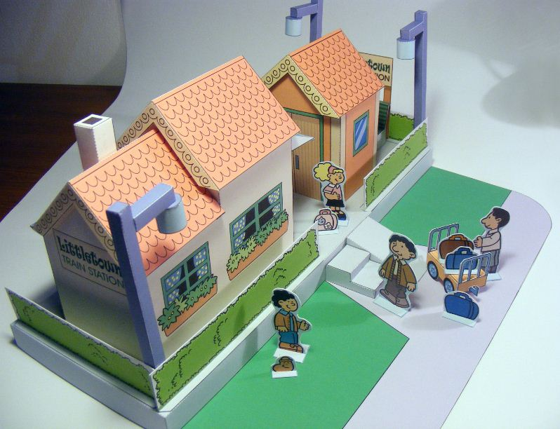 My Little House: Littletown Paper Toy - train station part 3