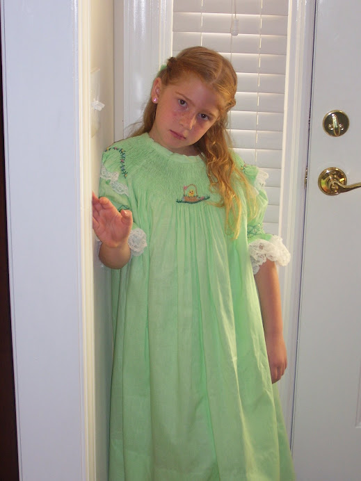 green  smocked bishop easter dress