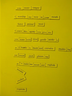 Think, erotic magnetic poetry