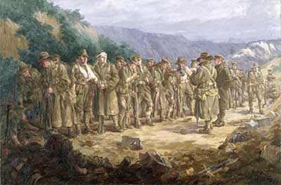 Silas executed this painting in London in about 1920 on commission for the Australian War Records Section