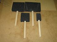 Pinceles de gomaespuma.
