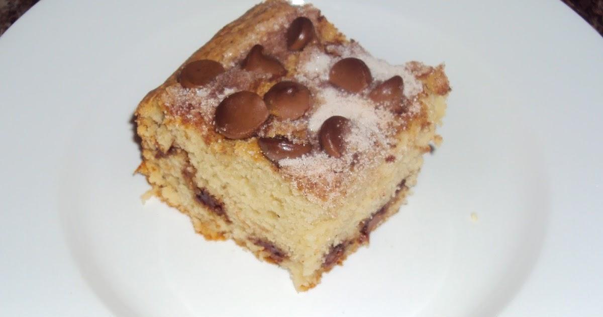 Squirrel Bakes Cinnamon Chocolate Chip Coffee Cake