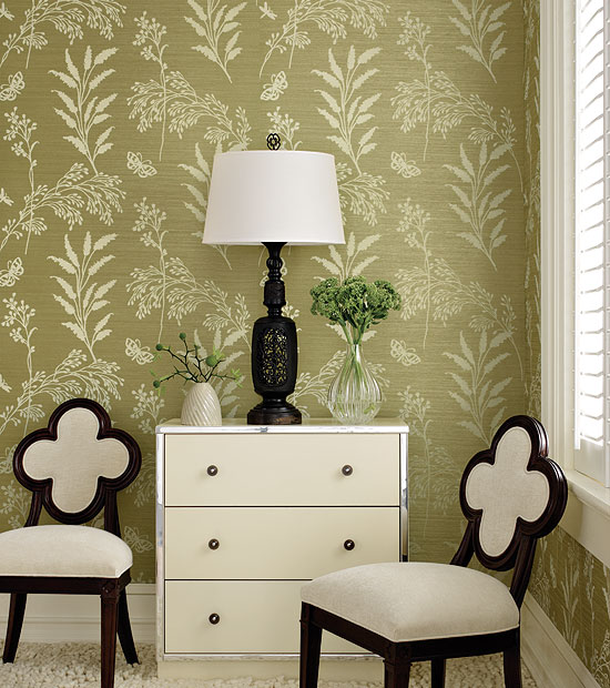 Printed Grasscloth Wallpaper: Walls: Printed Grasscloth
