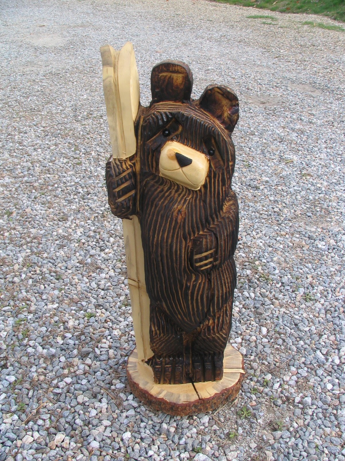 Go rustic chainsaw carved bear