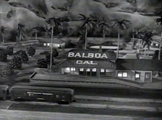 Holiday Affair (1949), the last shot: the toy train station BALBOA
