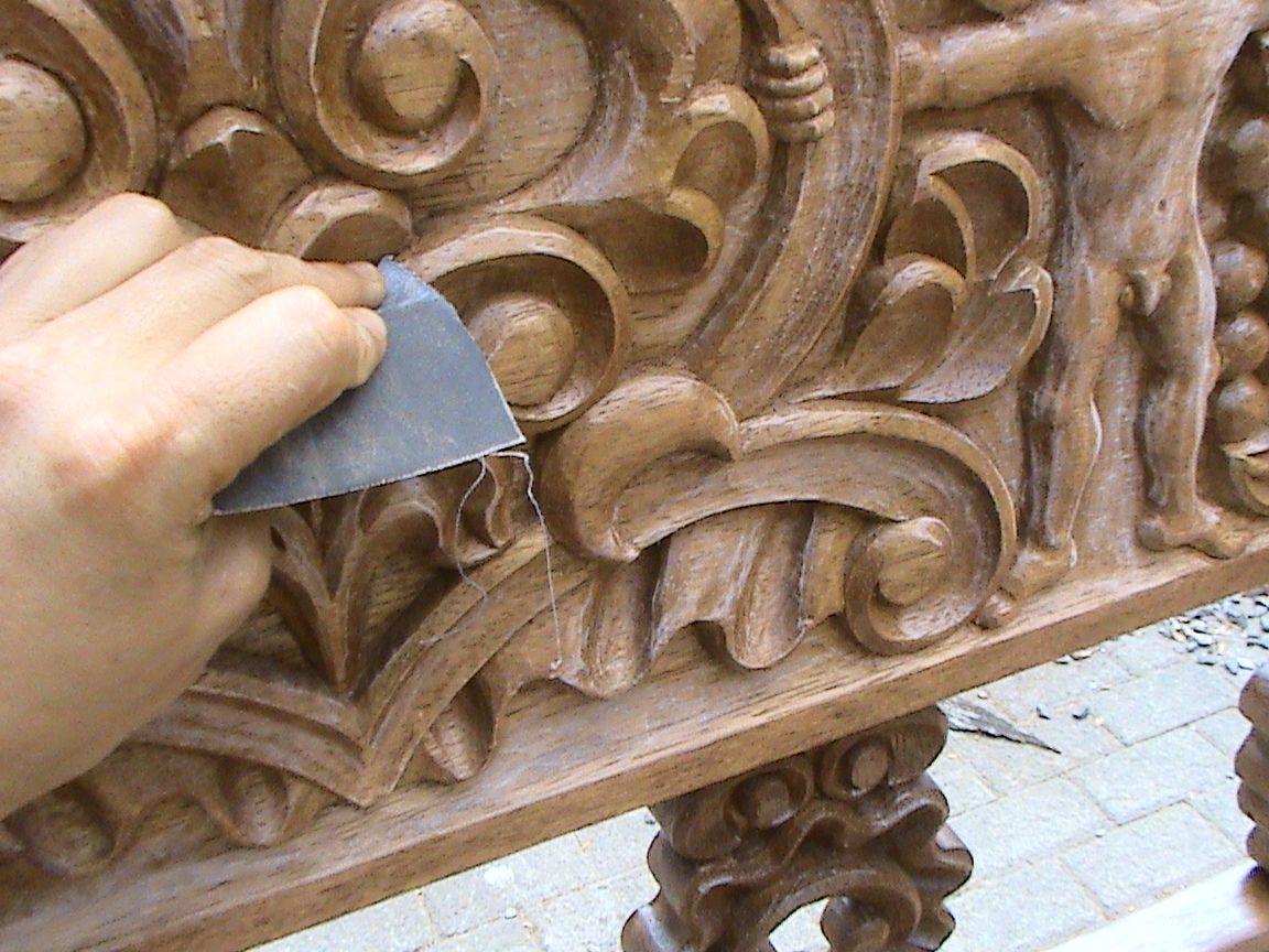 Decoraciones manualidades en madera como pintar tallado for Como barnizar un mueble
