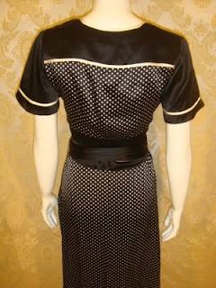 BCBG MAX AZRIA robe soirée noire blanche soie