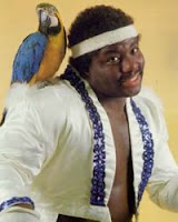 The always-dancing Koko B. Ware and his 'pet' Frankie