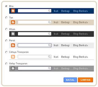 cara memunculkan navbar di blogspot