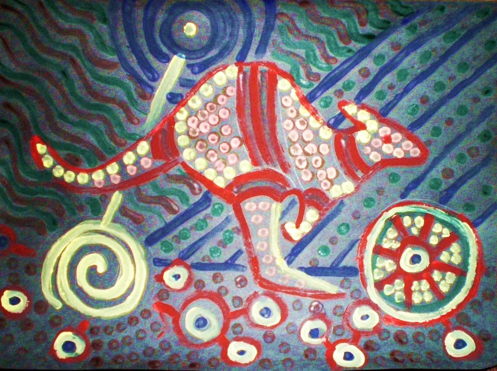 Aboriginal Dot Paintings Animals http://domesticicingblog.blogspot.com/2011/01/day-11-shrugs.html