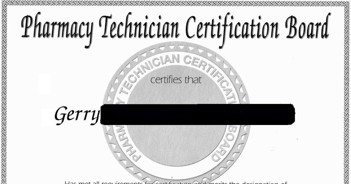 ptcb certificate pharmacy technician