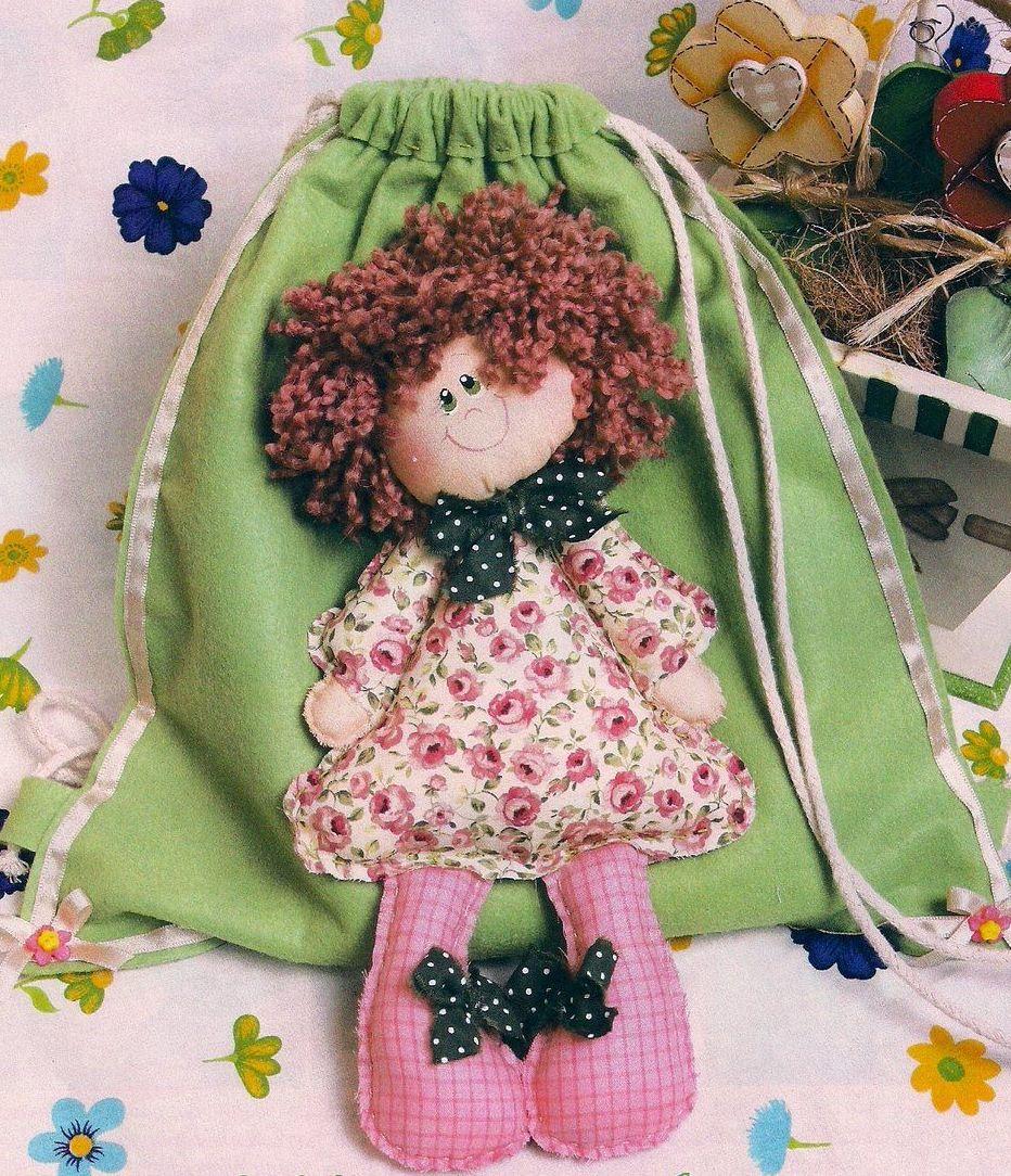 Рюкзак с куклой своими руками