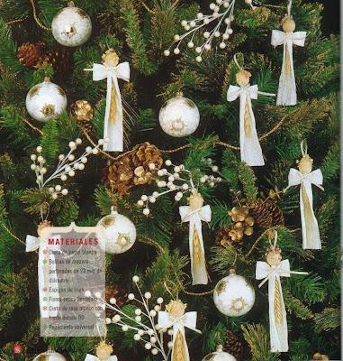 una chechi adornos para el arbol espigas angelicales