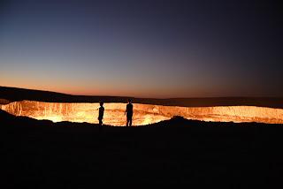 lubang api raksasa di uzbekistan