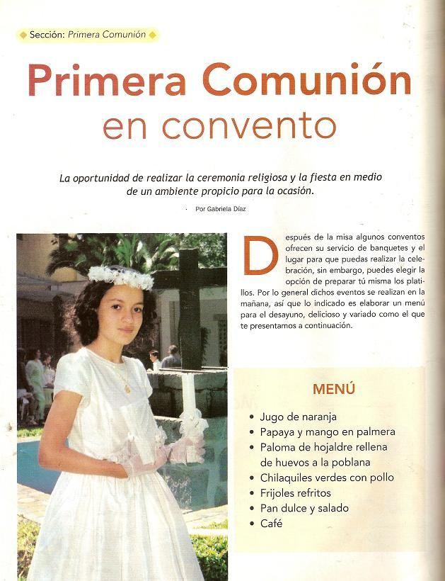 Moldes para Todo: = Primera comunión en convento =