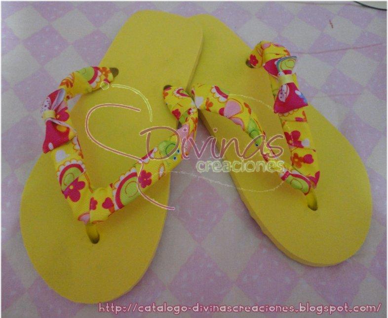 sandalias amarillas material sandalia de goma y liston talla 23 mx