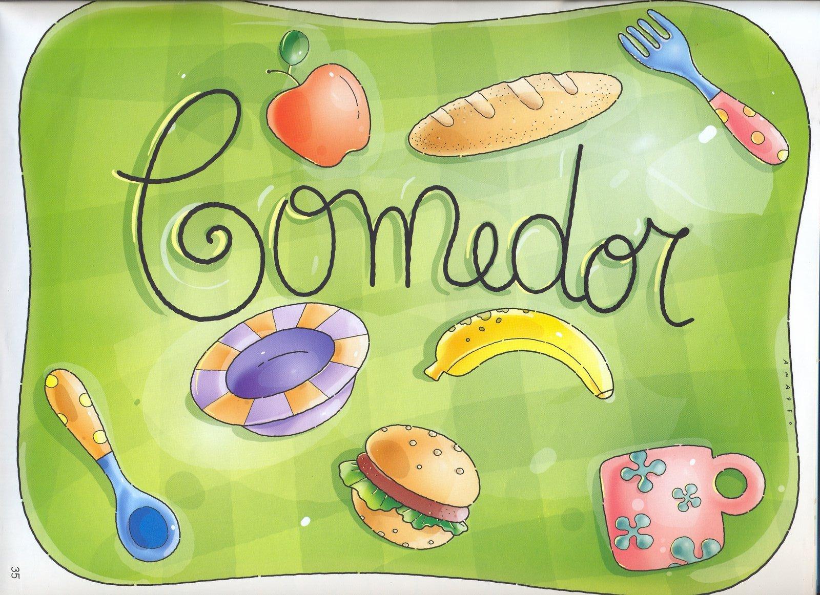 Cartel para comedor for Cartel comedor infantil