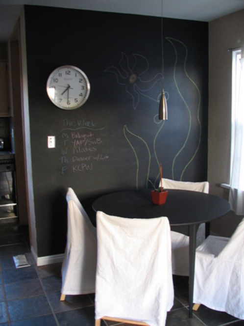 Chalkboard paint presents