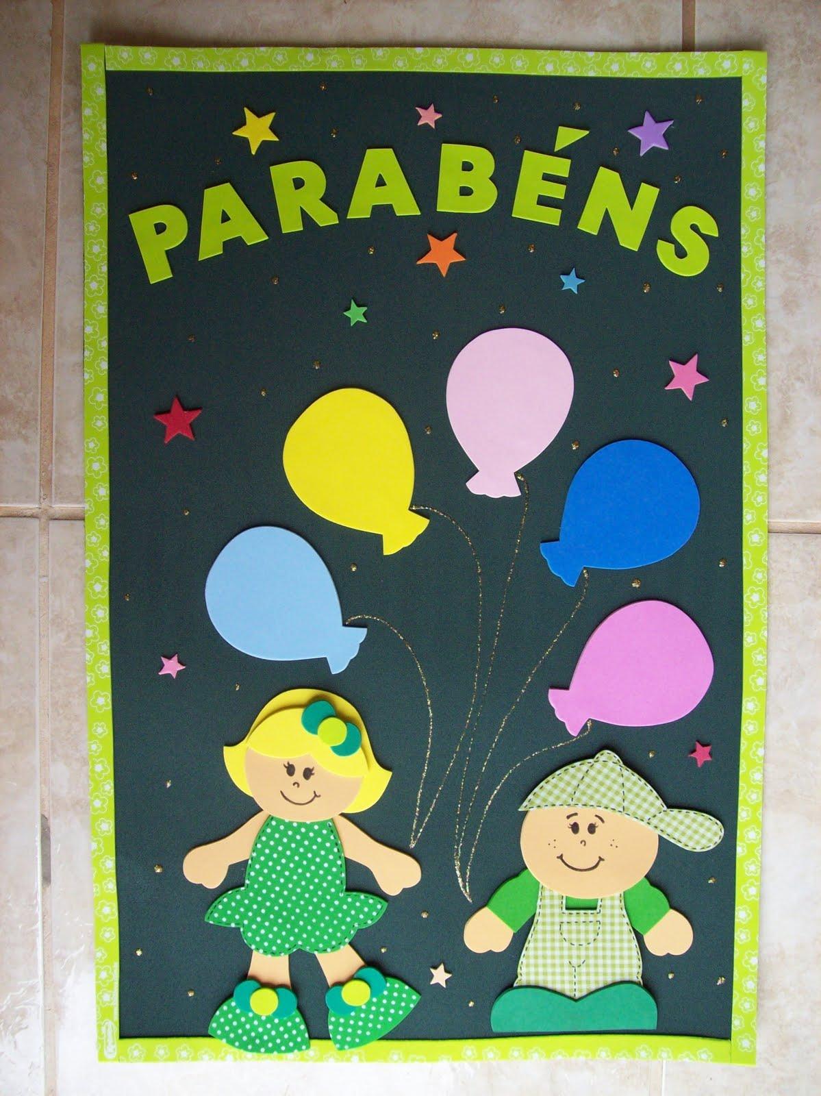 cartaz de aniversariantes
