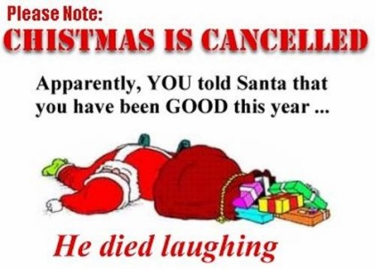 Christmas cancelled due to safety funny 